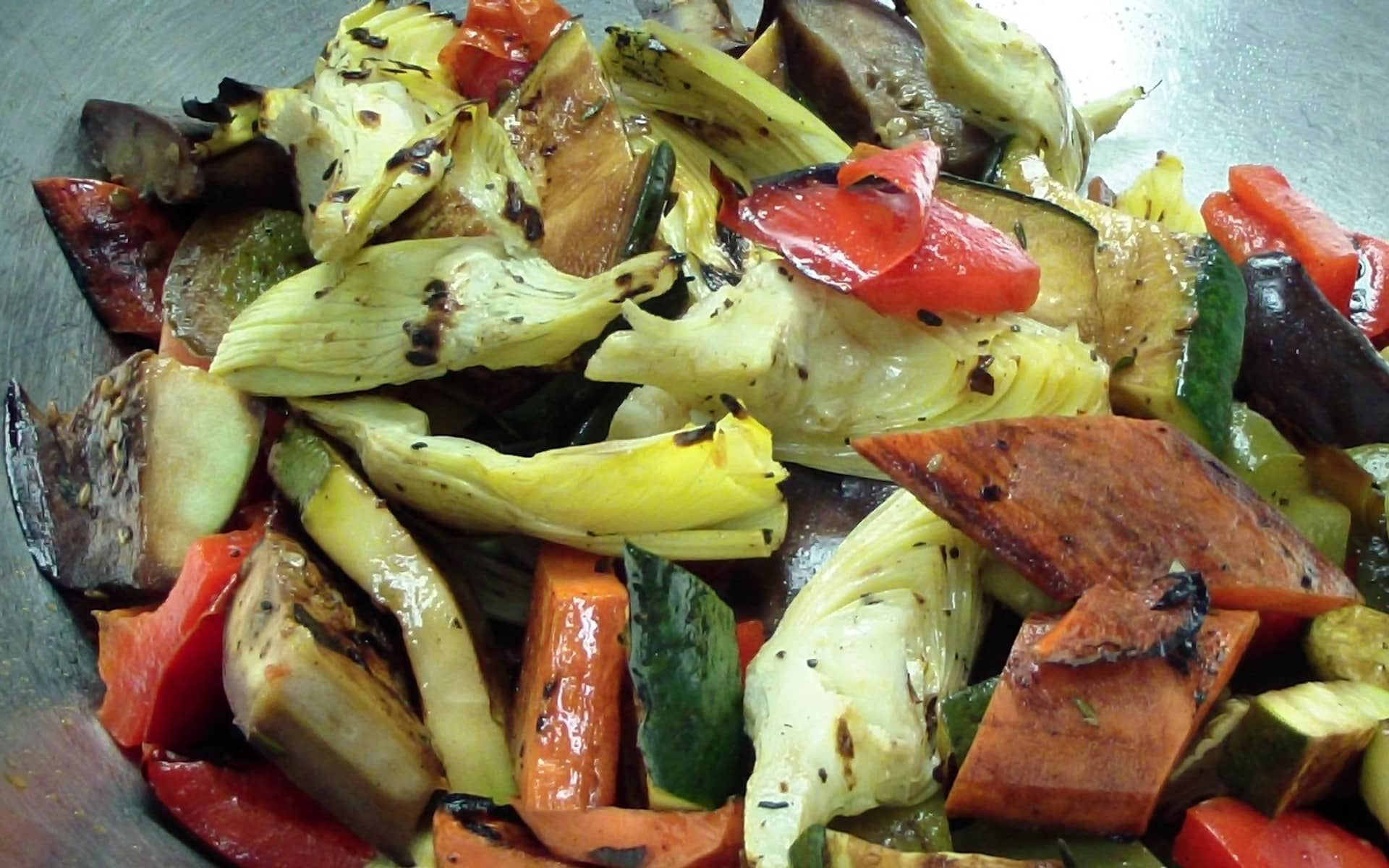 Perfectly roasted vegetables.